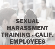 Sexual Harassment - Calif Employees